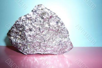 Beautiful shiny the gray stone.
