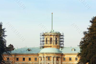 Historic building under restoration