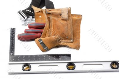 tool belt with libela and set square