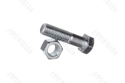 nut with bolt on top