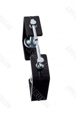 two black clamps