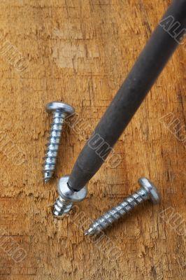 screws being put in wood