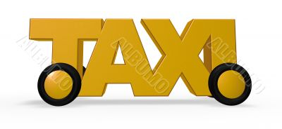 taxi tag on wheels
