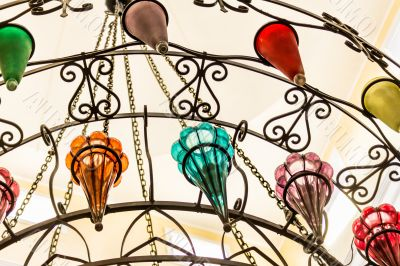 Beautiful multi-colored chandelier