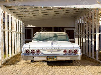 1964 chevrolet impala in parking garage