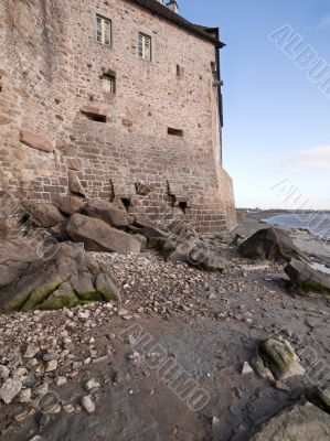 Castle Wall with Rocks and Mud