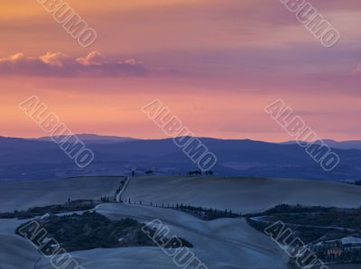 scenic shot of sunset