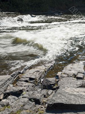 vertical image of water stream