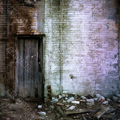 Door And Brick Wall