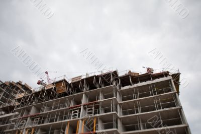 low angle view of a building under construction