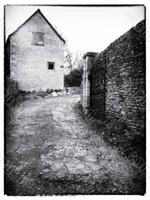 gated entranceway in england
