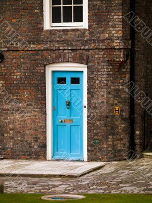british blue door