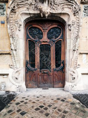 elaborate old door in paris