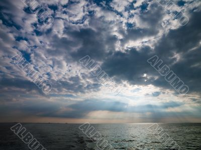 sunrays on the water