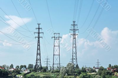 electricity pylon power line