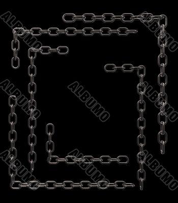 metal chain frame borders