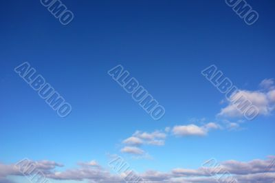 Sky with clouds as a background.