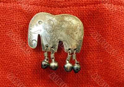 Copper figure of elephant