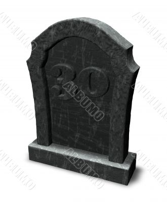 number thirty on gravestone