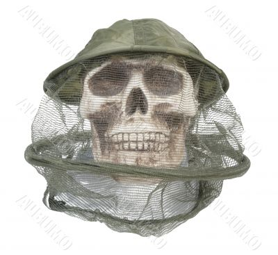 Bee Keeper Hat on Skull