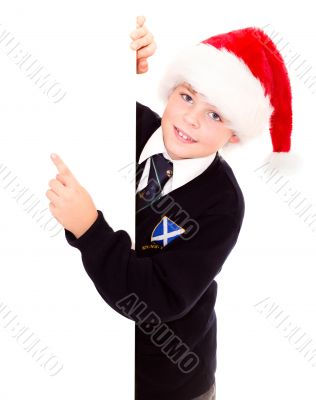Cute schoolboy waiting for the holidays. Wearing in a school uni