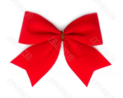 Red velvet bow.