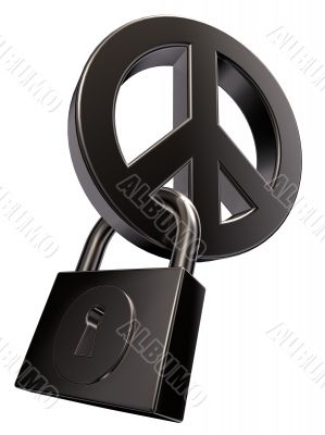 peace and padlock