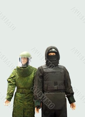 Samples of field engineer's uniforms