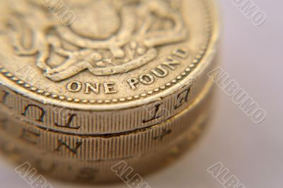 British one pound coins