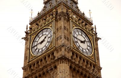 Close up of Big ben watch