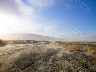dusty desert road