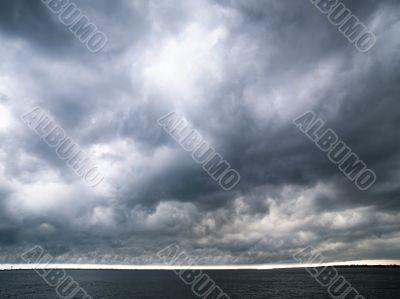 clouds looking dark