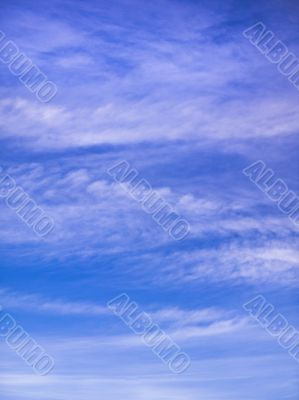 Wispy think cloud formation background