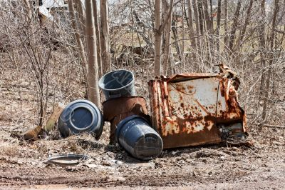 Garbage Cans and Rusted Parts