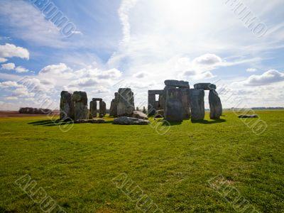 panoramic view of stonehenge