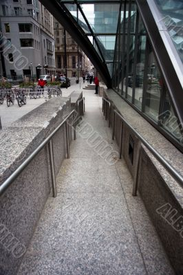 steps and staircase with railing in toronto canada