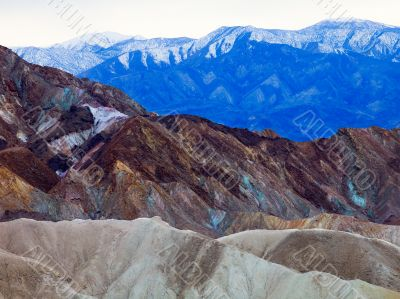 Vividly Coloured Death Valley Landscape