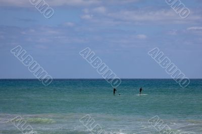 Standing on Surf Boards