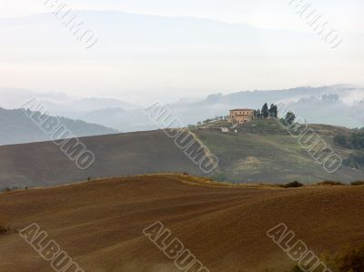 Tuscan Valley in Morning