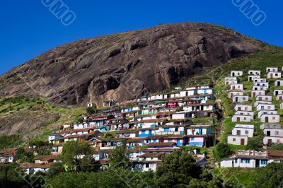 Wide Shot of Coonoor Hillside Houses