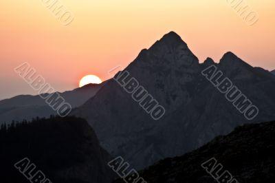 mountain morning for rising sun