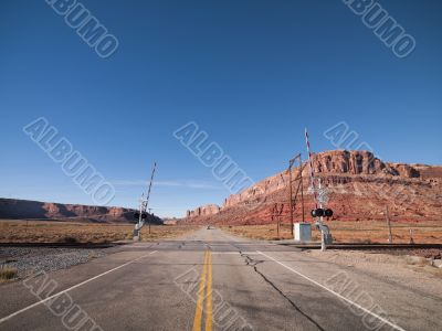 railroad in red canyon