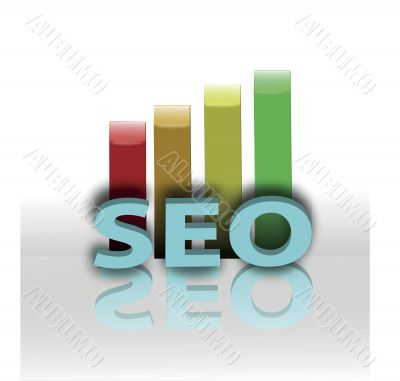 concept of seo and bar graph