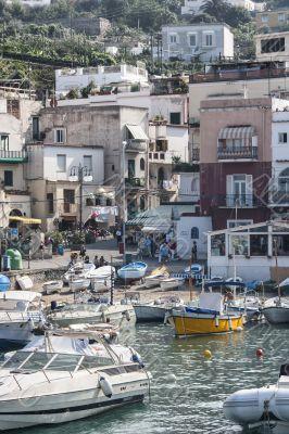 boats at harbor in capri