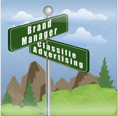 brand manager and classified advertising post