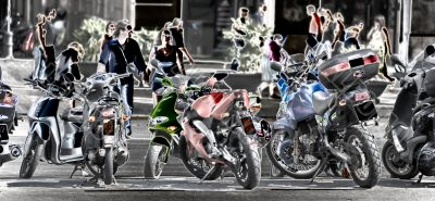 motorcycle parking in barcelona