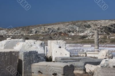 view in delos greece