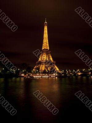 bright eiffel tower