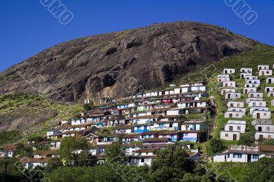 Wide Shot of Coonoor Hillside Houses