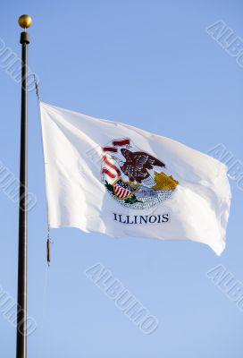 waving illinois flag